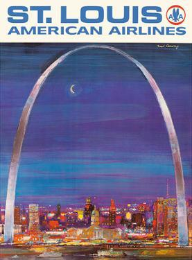 St. Louis Missouri - The Gateway Arch - American Airlines by Frederick Conway