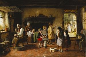 Early Sorrow, 1861 by Frederick Daniel Hardy