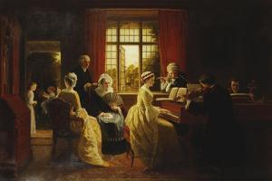 Music at the Parsonage by Frederick Daniel Hardy