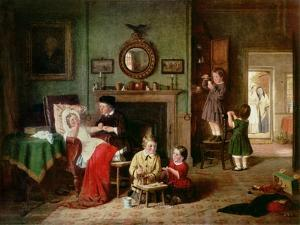 Playing at Doctors by Frederick Daniel Hardy