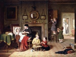Playing Doctor, 1863 by Frederick Daniel Hardy