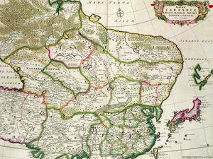 Map of Mongolia Showing Part of Russia, Japan and China, C.1680 by Frederick de Wit