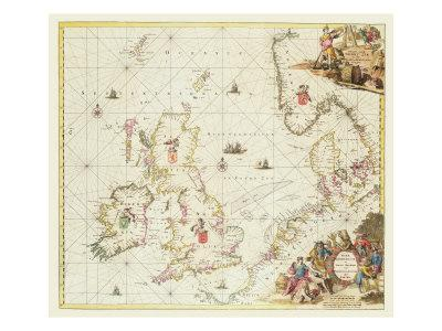 Map of the North Sea, c.1675