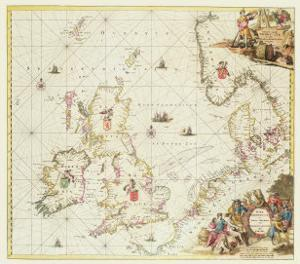 Map of the North Sea, c.1675 by Frederick de Wit