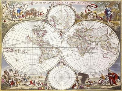 World Map from Atlas Maior, C.1705