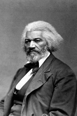 Frederick Douglass Seated Portrait Plastic Sign