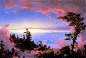 Frederick Edwin Church Above The Clouds At Sunrise Art Print Poster