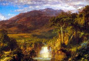 Frederick Edwin Church Heart Of The Andes Art Print Poster