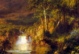 Frederick Edwin Church Heart Of The Andes Detail Art Print Poster