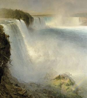 Niagara Falls, from the American Side, 1867 by Frederick Edwin Church
