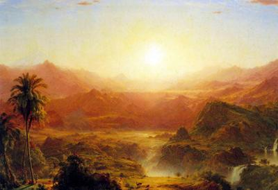 Frederick Edwin Church The Andes of Ecuador Art Print Poster
