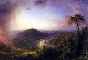 Frederick Edwin Church The Valley of St. Thomas Jamaica Art Print Poster