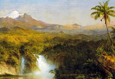 Frederick Edwin Church View of Cotopaxi Ecuador Detail Art Print Poster