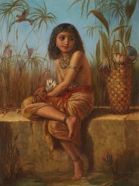 An Egyptian Flower Girl by Frederick Goodall