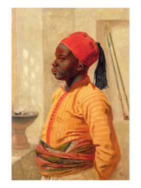 Half Length Portrait of an Arab Boy by Frederick Goodall