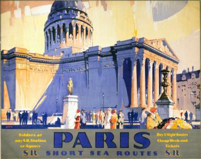 Paris, Short Sea Routes, SR, c.1932 by Frederick Griffin