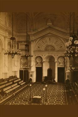 Masonic Hall - Philadelphia - Interior by Frederick Gutenkunst
