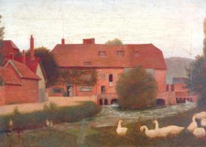 Mill Stream, 1876 by Frederick Hamilton Jackson