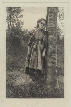 A Breton Girl, Evening by Frederick John Skill