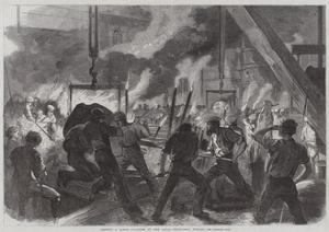 Casting a Large Cylinder at the Canal Ironworks, Poplar by Frederick John Skill