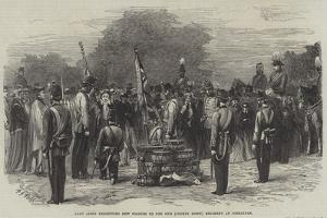 Lady Airey Presenting New Colours to the 86th (County Down) Regiment at Gibraltar by Frederick John Skill