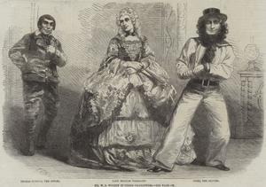 Mr W S Woodin in Three Characters by Frederick John Skill