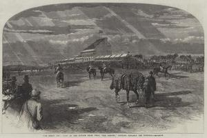 The Derby Day, View of the Course from Near The Corner, Looking Towards the Paddock by Frederick John Skill