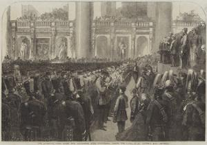 The Liverpool Press Guard (80th Lancashire Rifle Volunteers) Taking the Oaths in St George's Hall by Frederick John Skill