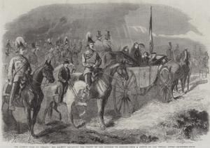The Queen's Visit to Ireland, Her Majesty Reviewing the Troops on the Curragh of Kildare by Frederick John Skill