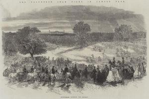 The Volunteer Sham Fight in Camden Park, Skirmishers Covering the Retreat by Frederick John Skill