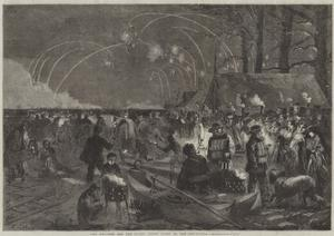The Weather and the Parks, Night Scene on the Serpentine by Frederick John Skill