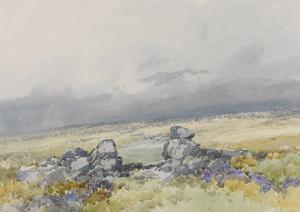 Grimspound, Dartmoor (Showing the Main Entrance from the South) , C.1895-96 by Frederick John Widgery