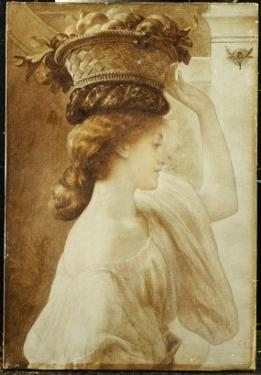 Eucharis: a Girl with a Basket of Fruit by Frederick Leighton