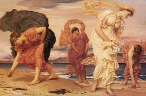 Greek Girls Picking up Pebbles by Frederick Leighton