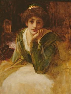 Oil Study for Desdemona, C.1889 by Frederick Leighton