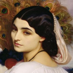 Pavonia, 1859 (Detail) by Frederick Leighton