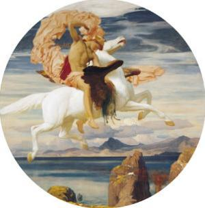 Perseus On Pegasus With the Head of Medusa by Frederick Leighton