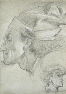 Study for 'Dante in Exile' by Frederick Leighton