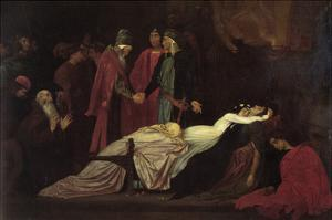 The Reconciliation of the Montague's and Capulet's over the Dead Bodies of Romeo and Juliet by Frederick Leighton