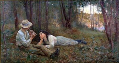 Bush Idyll, 1893 by Frederick McCubbin