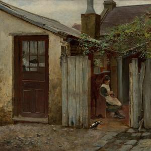 Girl with Bird at the King Street Bakery, 1886 by Frederick McCubbin