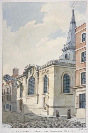 Church of St Swithin London Stone, City of London, 1840
