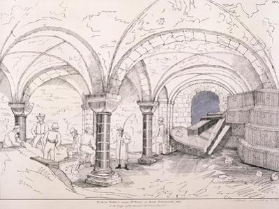 Crypt of St Mary-Le-Bow, C1819
