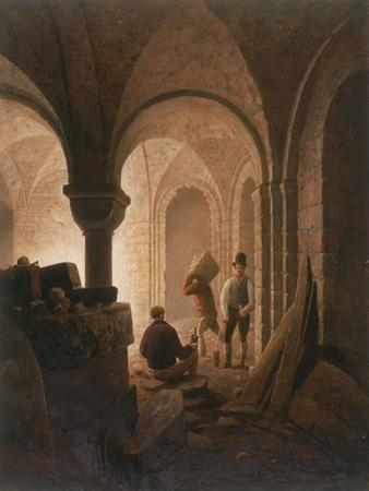 Crypt of St Mary-Le-Bow, London, 1818