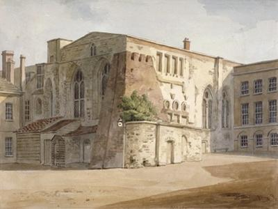 Exterior View of the Painted Chamber, Palace of Westminster, London, C1805