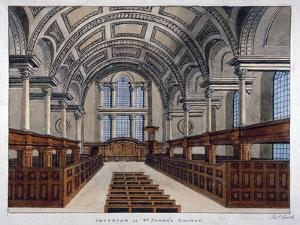 Interior View Looking East, St James's Church, Piccadilly, London, 1806 by Frederick Nash
