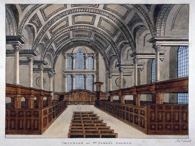 Interior View Looking East, St James's Church, Piccadilly, London, 1806