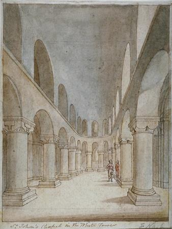 Interior View of St John's Chapel, Tower of London, C1810