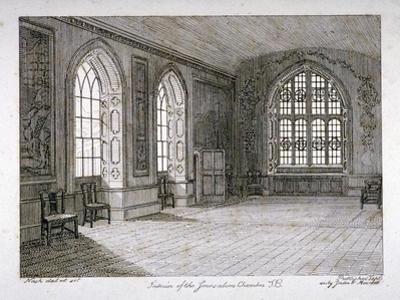Interior View of the Jerusalem Chamber in Westminster Abbey, London, 1805