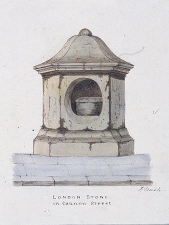 London Stone, Cannon Street, London, C1816
